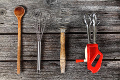 Kitchen tools - cooking supplies. Baking, cooking and cutting - kitchen tools Stock Images