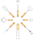 Kitchen Tools Cutlery Circle Sun Royalty Free Stock Photography