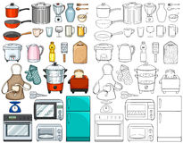 Kitchen tools and equipments Royalty Free Stock Image