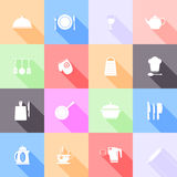 Kitchen tools flat icons Royalty Free Stock Photos