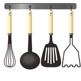 Kitchen tools on a hanger Royalty Free Stock Photography