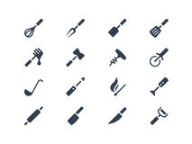 Kitchen tools icons set Stock Image