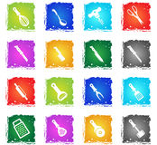 Kitchen tools icons set Stock Images