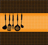 Kitchen tools illustration Royalty Free Stock Photography