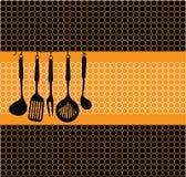 Kitchen tools illustration Royalty Free Stock Photography