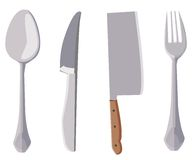 Kitchen tools illustration Royalty Free Stock Image
