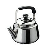 Kitchen tools: kettle on stainless steel Stock Image