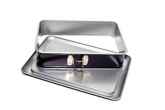 New, gray, removable baking dish Royalty Free Stock Image