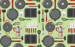 Kitchen Tools Patters Backgrounds 1 royalty free stock image