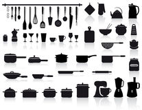 Kitchen tools, pottery and cutlery Stock Photo
