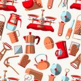 Kitchen tools-seamless Royalty Free Stock Photo