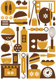 Kitchen tools seamless Stock Photo