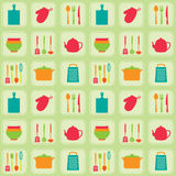 Kitchen tools seamless pattern Stock Photo