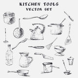 Kitchen tools set Stock Photography