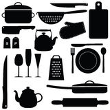 Kitchen tools. Set of kitchen tools,  illustration Stock Photography