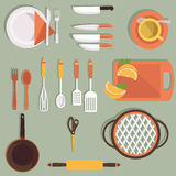 Kitchen tools set. Vector for your ideas Royalty Free Stock Photo