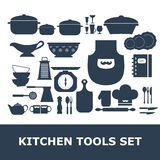 Kitchen Tools Silhouette Vector set Royalty Free Stock Image