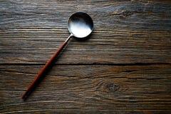 Kitchen tools spatule kitchenware on wood Royalty Free Stock Photo