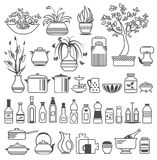 Kitchen tools and utensils. Vector illustration Stock Photo