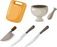 Kitchen tools vector. Illustration kitchen tools on white background vector file Stock Image