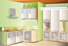Kitchen Touch Small Room Stock Photography