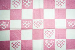 Kitchen towel hearts Royalty Free Stock Photography