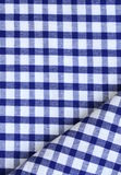 Kitchen Towel In The Blue Checkered Royalty Free Stock Images