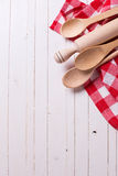 Kitchen towel and spoons Stock Image