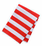 Kitchen towel striped cloth set isolated. Royalty Free Stock Photography