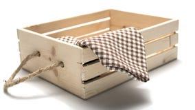 Kitchen towel in wood box Stock Photo