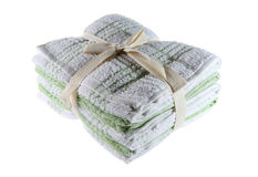 Kitchen Towels. Fresh linen neatly wrapped Royalty Free Stock Photo