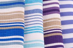 Kitchen towels. Colorful kitchen towels closeup picture Stock Images