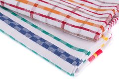Kitchen towels. Colorful kitchen towels closeup picture Royalty Free Stock Images