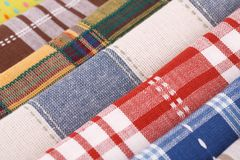 Kitchen towels. Colorful kitchen towels closeup picture Royalty Free Stock Photo
