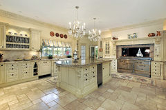 Kitchen in traditional home Stock Photo