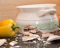 Kitchen tragedy Royalty Free Stock Photos