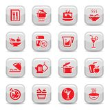 Kitchen type icons Stock Images