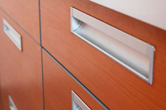 Kitchen unit. From wood and metal Stock Photo