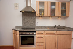 Kitchen unit with granite top Royalty Free Stock Image