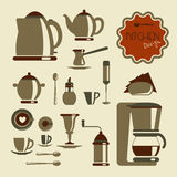 Kitchen utensil for coffee and tea Stock Photo