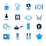 Kitchen utensil icons Stock Photo