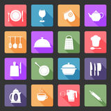Kitchen utensil icons Stock Photos
