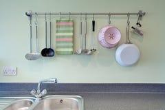 Kitchen utensil rack Royalty Free Stock Photography
