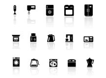 Kitchen utensil with reflection Stock Images