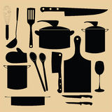 Kitchen utensil retro design illustration Royalty Free Stock Images