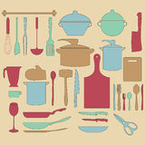 Kitchen utensil retro design illustration Stock Photos