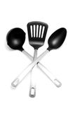 Kitchen utensil. Spoon and ladle Royalty Free Stock Photography