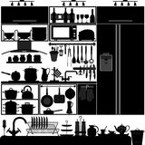Kitchen Utensil Tool Interior. A set of kitchen interior design and tool Stock Images