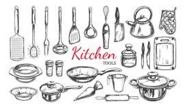 Kitchen utensil, tools set 1 Stock Photos