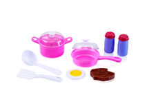 Kitchen utensil toy royalty free stock photography